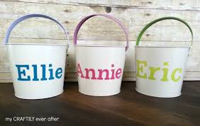 personalized easter buckets personalized easter buckets pottery barn knock my craftily
