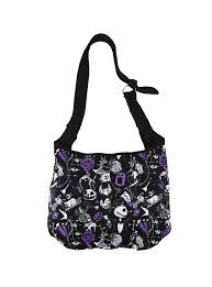 the nightmare before sketched icons hobo bag topic