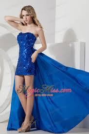 detachable royal blue prom dress mini length sequin us 147 38