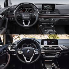 luxury cars inside photo comparison g01 bmw x3 xdrive30ivs audi q5 2 0t