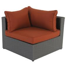 royal garden becket 6 piece outdoor sectional red cushions