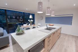 Concrete Kitchen Sink by Countertops Modern Kitchen With Concrete Countertop And Double