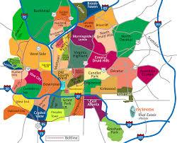 Boston Neighborhoods Map by Atlanta Neighborhoods Atlanta Real Estate