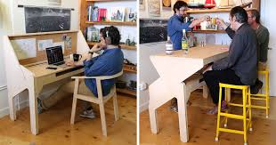 play desk for my transforming desk bar lets me work hard and play hard bored panda