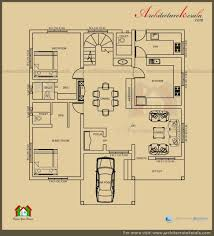 1100 Sq Ft House by Architecture Kerala 2500 Sq Ft 3 Bedroom House Plan With Pooja