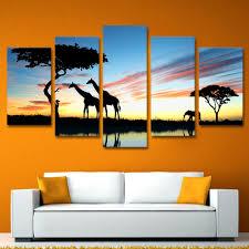 awesome safari living room decor 5 pieces africa landscape safari