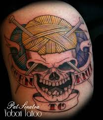 amazing skull tattoos 30 fantastic knitting tattoos designs and ideas golfian com