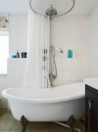 Bathroom Shower Rods Circular Shower Curtain Rod Centered Over Shower Head If We Get