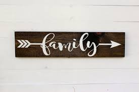 home decor family signs family arrow rustic sign family sign home rustic home