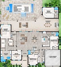 Floor Plans With Bonus Room Plan 86017bw Florida House Plan With Detached Bonus Room