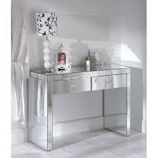 glass mirrored console table glass mirrored romano console table