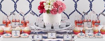 themed wedding shower nautical bridal shower favors and decor kate aspen