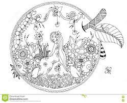 thumbelina coloring stock illustration image 58341024