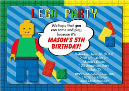 free lego themed birthday party invitations template drevio