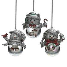 towle teddy snow globes pewter ornaments silver superstore