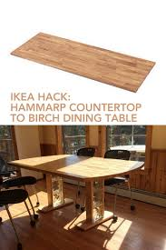 Ikea Dining Tables by Birch Dining Table From Hammarp Countertop Ikea Hackers Ikea