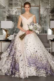 purple dresses for weddings wedding dresses bridal gowns with flower prints from 2017