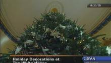 White House Christmas Decorations Video by White House Holiday Decorations Nov 30 2005 Video C Span Org