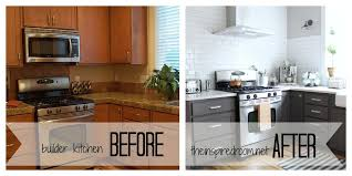 Kitchen Remodel Ideas Before And After Before And After Painted Kitchen Cabinets Inspiration Desjar