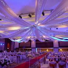 ceiling draping for weddings 12 panel 28 hoop ceiling draping hardware kit for wedding party
