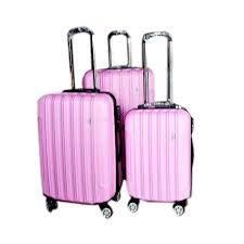 ultra light luggage sets ultra light luggage set 3pcs hard shell tsa locks pink tl 01 pnk