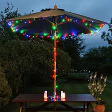 garden parasol with solar lights 18 best solar lights images