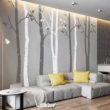 n sunforest 8ft white birch tree vinyl wall decals nursery forest