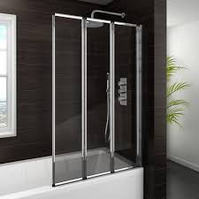folding bath screen bath shower screens victorian plumbing haro folding bath screen 900mm wide 3 fold concertina medium image