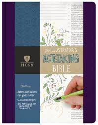hcsb illustrator u0027s notetaking bible purple linen holman bible