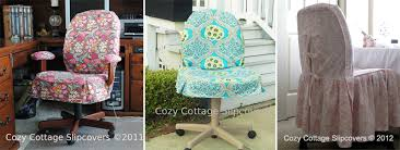 turquoise chair slipcover office chair slipcovers by cozy cottage slipcovers the slipcover maker