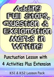 full stops question marks and exclamation marks fun yet