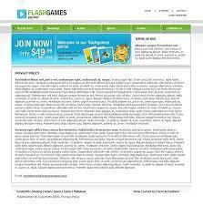 flash game website templates sixthlifesixthlife
