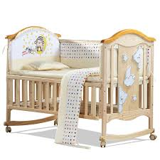 Baby Bed Crib European Style Environmental Baby Bed Multifunctional Baby Crib