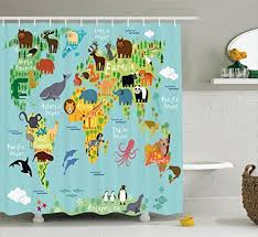 Amazon Extra Long Shower Curtain Children Shower Curtains Amazon Com