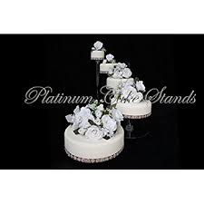 wedding cake stand 4 tier clear spiral cascade wedding cake stand style