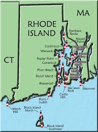 map rhode island rhode island lighthouse map