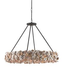 Circle Chandelier Oyster Circle Chandelier Currey Company