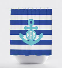 Nautical Anchor Shower Curtain Anchor Shower Curtain Nautical Decor Nautical Shower Curtain