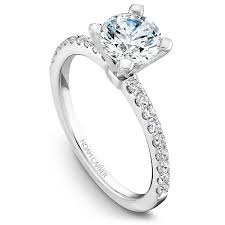 engagement ring setting 18kt white gold noam carver delicate prong set engagement ring