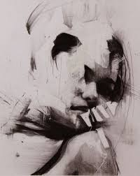 artist ian francis contemporary abstract female head woman face