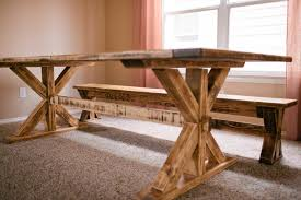 kitchen elegant rustic kitchen table with bench furniture