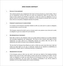 Zero Contract Hours Template 17 contract templates free word pdf documents