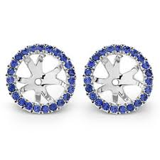 warren stud earrings 18k white gold sapphire earring jackets borsheims