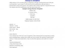 Acting Resume Example by Download Beginner Resume Haadyaooverbayresort Com