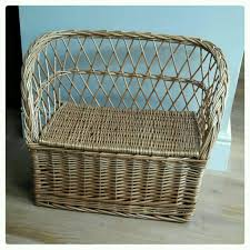 child u0027s wicker bench with storage under seat in sheringham