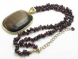 bead necklace ebay images Garnet necklace ebay JPG