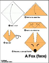 een vos vouwen met kleuters fox origami pinterest origami