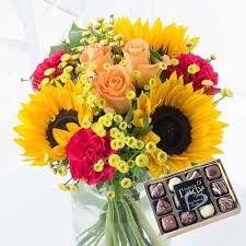 flowers and chocolate summer glow with chocolates gulmarg florist gulmarg flower