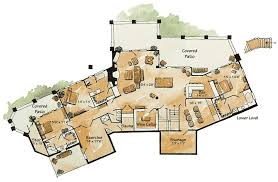 mountain lodge floor plans luxury mountain lodge 11578kn architectural designs house plans