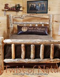 log bedroom furniture handmade deluxe log sided bed frame wood bed frame log